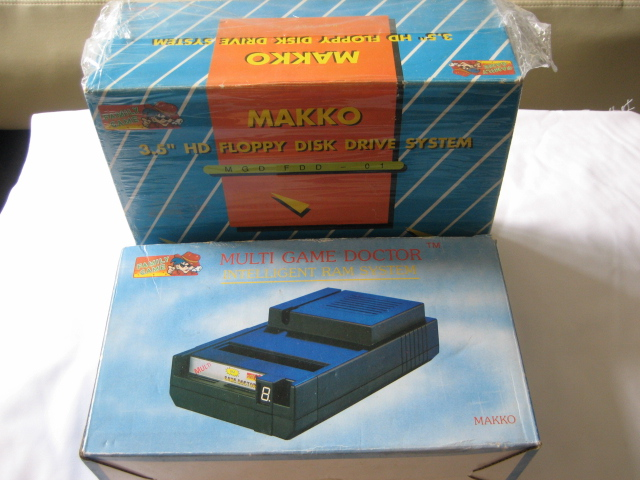 Boxed MGD1 main unit + floppy drive + pc-engine interface - Click Image to Close