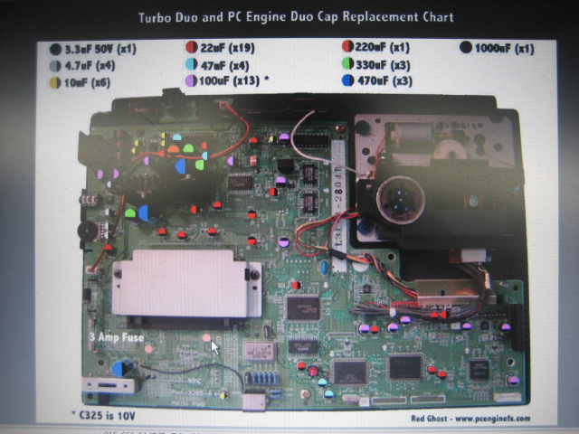 Pc-Engine Duo/Turbo Duo Capacitor Replacement set - Click Image to Close